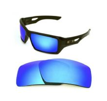 NEW POLARIZED CUSTOM ICE BLUE LENS FOR OAKLEY EYE PATCH 2 SUNGLASSES